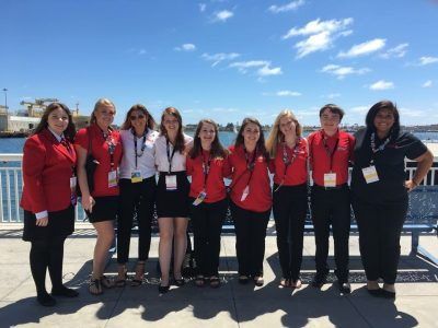FCCLA students who competed at national competition this month in California