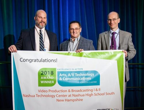 Nashua South Video Production and Broadcasting Program Receives Excellence in Action Award