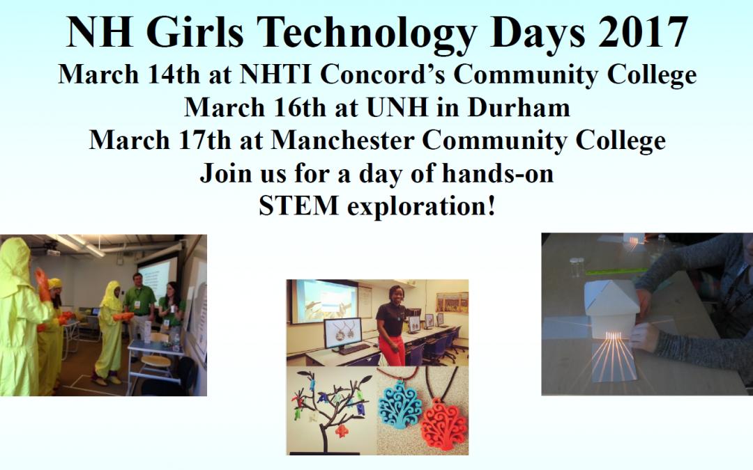 Register Now for Girls Technology Days 2017