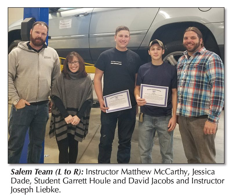 Salem Students Take Top Honors in Written Automotive Skills Contest