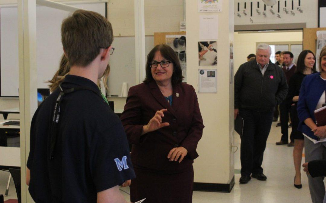 Getting Technical: Congresswoman visits Milford High School's Applied Technology Center